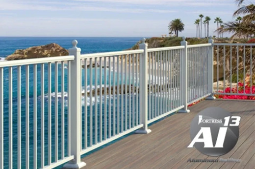 Fortress AL13 Aluminum rails on beachside