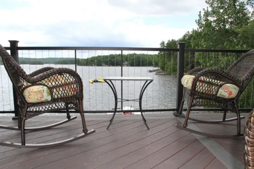 Fortress Fe26 Stainless Steel Cable and Iron with two rocking chairs