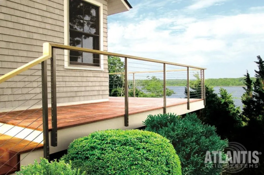 Spectrum Stainless with Wood or Composite Top Rail